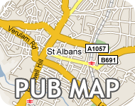 Map of St Albans Pubs